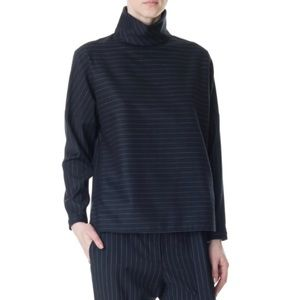 Tibi Pinstripe Wool Top